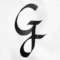 Calligraphy Alphabet G Alphabet G Calligraphy Sample Styles
