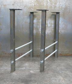 Metal Table Legs Double Threaded Rod