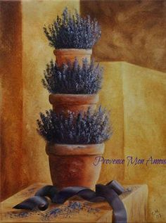 Lavender: Pots of #lavender.