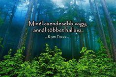 Baba Ram Dass idézete a hallgatásról. A kép forrása: Valóság amit tudnod kell # Facebook