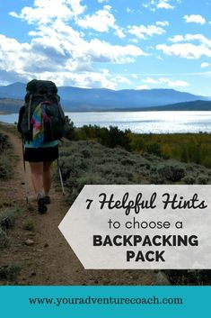 7 helpful hints to choose a backpacking pack 2ee407c56644a