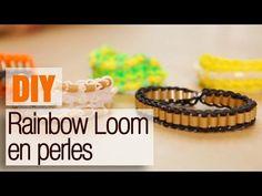 Faire un bracelet élastique en perles Rainbow Loom - Tuto DIY