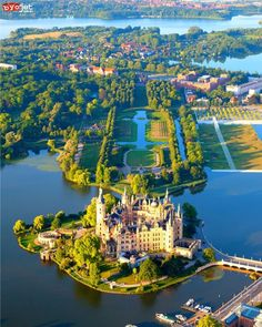 At the Schwerin Castle in Germany.