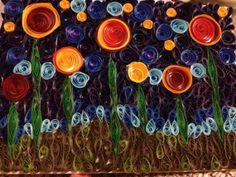 Quilled Roses at Midnight by QuillingMaven on Etsy, $150.00