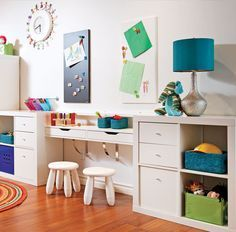 Decorating a kids' room doesn't mean you have to scrimp on style. In fact, it opens up a whole new world of exciting design possibilities, even for small room ideas. Girl Room, Girls Bedroom, Ikea Trofast, Kallax, Lego Room, Toy Rooms, Kids Storage, Baby Boy Rooms, Kid Spaces