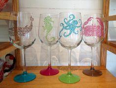 Nautical wine glasses