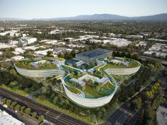 Apple is rumoured to be planning another new campus in California's Silicon Valley – a clover leaf-shaped complex by HOK featuring a two-acre roof garden Unique Architecture, Landscape Architecture, Nova, Land Use, Start Ups, Amazing Buildings, Real Estate Development, California Homes, Places