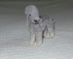 Custom Pet Portrait / Needle Felted Dog / Bedlington Terrier Misty blu by Gourmet Felted | Flickr - Photo Sharing!