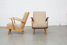 Jan Den Drijver Style Pair of Open Back Easy Chairs