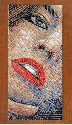 Mosaic of red lips