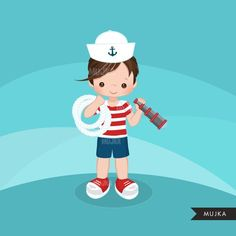 Little Boy Graphics Sailing captain mate Tropical Party, Logo Design Services, Red Stripes, Party Printables, Doll Patterns, Cute Drawings, Planner Stickers, Little Boys, Sailor