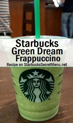 Starbucks Green Dream Frappuccino! #StarbucksSecretMenu Recipe here: http://starbuckssecretmenu.net/green-dream-frappuccino-starbucks-secret-menu/
