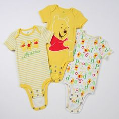 Disney Cuddly Bodysuit with Grow-An-Inch-Snaps Winnie the Pooh Winnie The Pooh Nursery, Disney Winnie The Pooh, Baby Disney, Disney Baby Clothes, Cute Baby Clothes, Babies Clothes, Baby Shower Supplies, Baby Supplies, Getting Ready For Baby