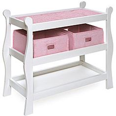 Badger Basket Sleigh-style Doll Changing Table - Overstock™ Shopping - Big Discounts on Badger Basket Furniture & Accessories