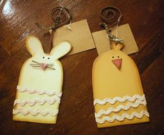 Adorable bunny & chick tag.