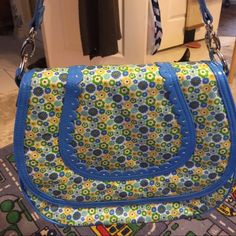 Frill purse It's shiny and beautiful frill purse. It has two option of handle. Cross body or shoulder Vera Bradley Bags Shoulder Bags