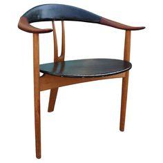 Arne Hovmand Olsen Sculptural Tri-Leg Armchair