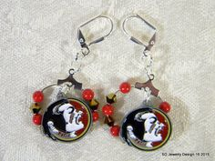 College Charm Dangle Earrings-Florida by SDJewelryDesign16 on Etsy