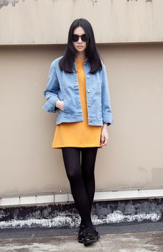 Love retro yellow (by Y H) http://lookbook.nu/look/3209793-Love-retro-yellow