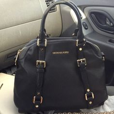 Michael Kors Bowling Large Black Satchels Is Famous For High-Top Quality And Fast Delivery!