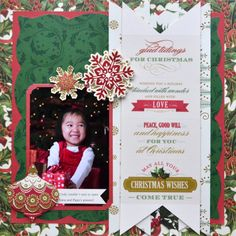 Anna Griffin Scrapbook Page Layouts | These stickers make great design elements, or can be stacked upon each ...