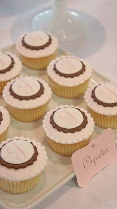 monogram cupcakes by @sweet bloom cakes