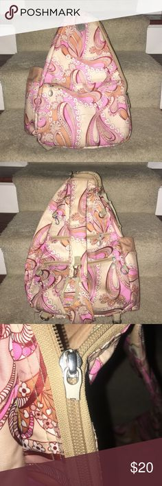 Life Is Tennis Backpack Jet pac Life Is Tennis Small Sling Backpack. Great condition other than the broken zipper as shown in picture Life Is Tennis Jetpac Bags Backpacks