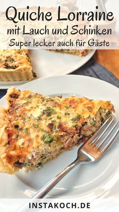 Quiche Lorraine is one of these great simple French recipes that is . - Quiche Lorraine is one of these great simple French recipes that is homemade, fresh from the oven a - Easy Lasagna Recipe, Quiches, French Food, Breakfast Pizza, Chicken Casserole, Family Meals, Food Porn, Easy Meals, Food And Drink