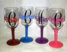 Crystal's Creative Spot: Personalized Wine glasses