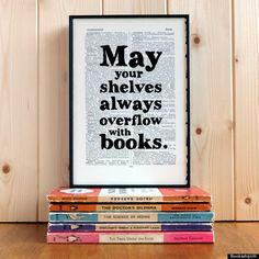 Love this quote, and definitely need this for the office! You can never have enough books!