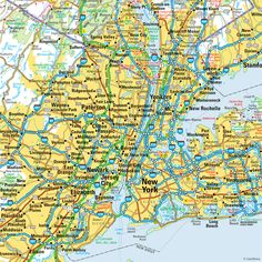 New York City metropolitan area map