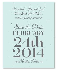 Plantable Wedding Save the Date on seeded paper from cream to Tiffany Blue. Tiffany Elegance by ForeverFiances Weddings is the most exclusive way to send out your invitations to your elegant and royal wedding. Printed on plantable paper. Blue Wedding Stationery, Mountain Wedding Invitations, Typography Wedding Invitations, Wedding Invitation Envelopes, Unique Wedding Invitations, Elegant Wedding Invitations, Tiffany Blue Weddings, Sophisticated Wedding, Wedding Save The Dates