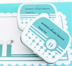 Personalized Something Blue Mint Tins - Empty Mint Tins - DIY Favors $1.30 ea