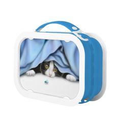 Tuxedo Kitten Bug Hunter Lunch Boxes  #cats  #cat   #shopping   #gifts  #twopurringcats