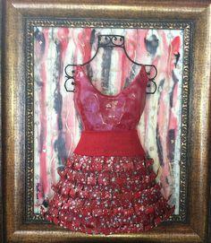 "Encaustic Work: ""Date Night"" Printable, Night, Formal Dresses, Art, Fashion, Dresses For Formal, Art Background, Moda, Formal Gowns"