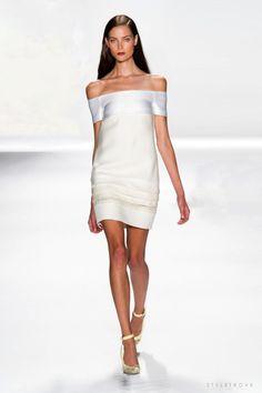 """styletrove: """"RUNWAY LOVE: Clean Feminine elegance @ J Mendel. """""""