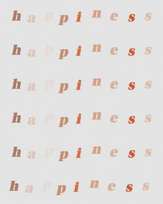 happiness lettering print, neutral tones, pink mauve and red Motivacional Quotes, Cute Quotes, Words Quotes, Sayings, Friend Quotes, Photo Wall Collage, Picture Wall, Good Vibes Quotes Positivity, Happiness Quotes
