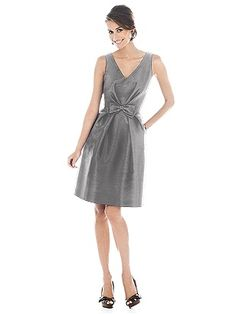Alfred Sung Bridesmaid Dress D504  #Gray #Bridesmaid #Dresses