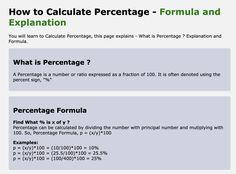 "A Percentage is a number or ratio expressed as a fraction of It is often denoted using the percent sign, ""%"" Percents, Fractions, Calculator, Number"
