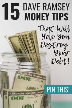 These Dave Ramsey tips are super helpful! If you need some ideas on Dave Ramsey budgeting, paying off debt, or saving money like crazy, then definitely read this!