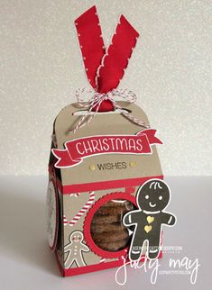 Stampin' Up! Candy Cane Lane Baker's Box for CTC96 - Judy May, Just Judy Designs