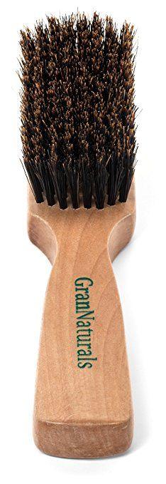 GranNaturals Men's Boar Bristle Hair + Beard Brush - http://amzn.to/2tkx7Vx