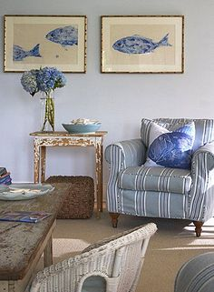 Gorgeous beach cottage living room