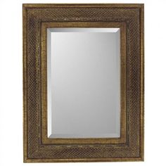 Paragon Rectangle Bronze Raffia Mirror - 8741
