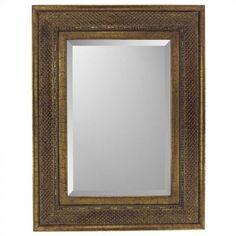 Paragon Rectangle Bronze Raffia Mirror - 8741