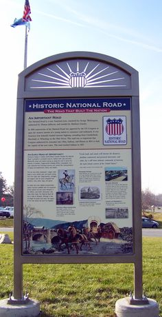 Indiana's Historic National Road receives new, eye catching Interpretive Panels
