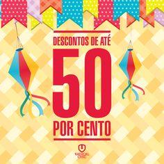 Venha aproveitar o Arraial do Centro de Compras Carlos Chagas em na Radical Chic. Descontos de até 50% ;) #arraial #avenidacarloschagas #cidadenobre #ipatinga #comidastipicas #promoção #descontos #50porcento