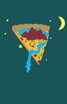 #pizza #Illustrator Pizza Life, Pizza Art, Lunch Notes, Pizza Boxes, Digital Art Tutorial, Armadillo, Neverland, Art Tutorials, Bart Simpson