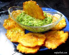 Costa Rican Dishes patacones con guacamole