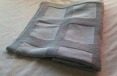 Con hilos, lanas y botones: DIY Manta de punto para bebé paso a paso (patrón gratis) Shawl, Kids Room, Plaid, Crafty, Stitch, Diy, Knitting Ideas, Baby Knitting, Blankets